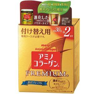 Bột collagen Meiji Premium màu vàng hàng nhật xách tay