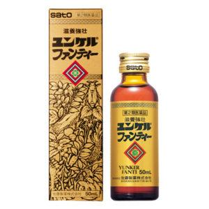 Nước uống tăng lực nhân sâm Sato Yunker Fanti hàng Nhật nội địa