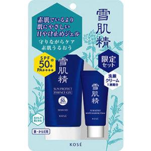 Kem chống nắng Kose Sekkisei Sun Protect Essence Gel tặng kèm sữa rửa mặt